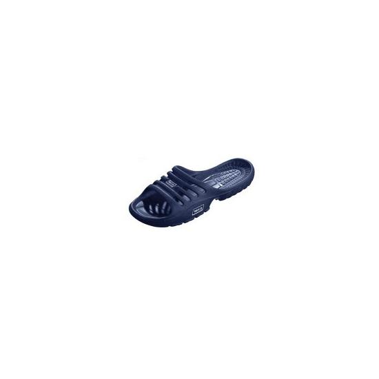 Donkerblauwe strand of sauna slippers voor dames