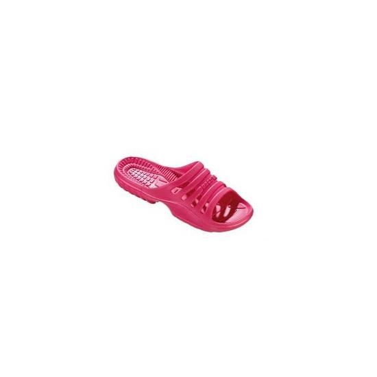 Roze strand of sauna slippers voor dames