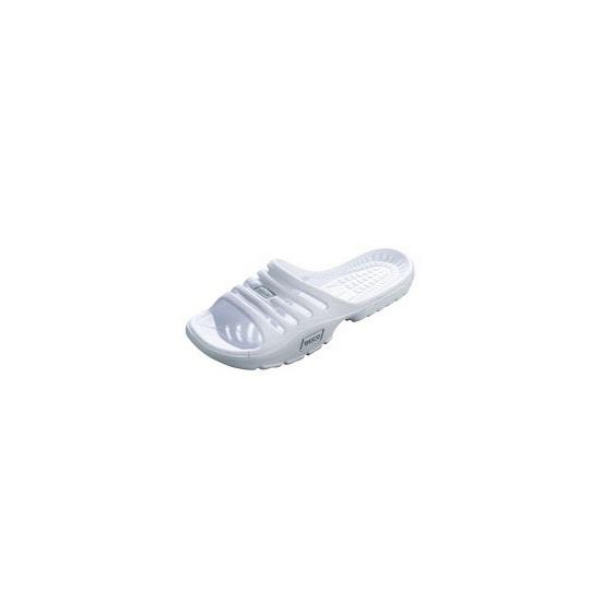 Witte strand of sauna slippers voor dames