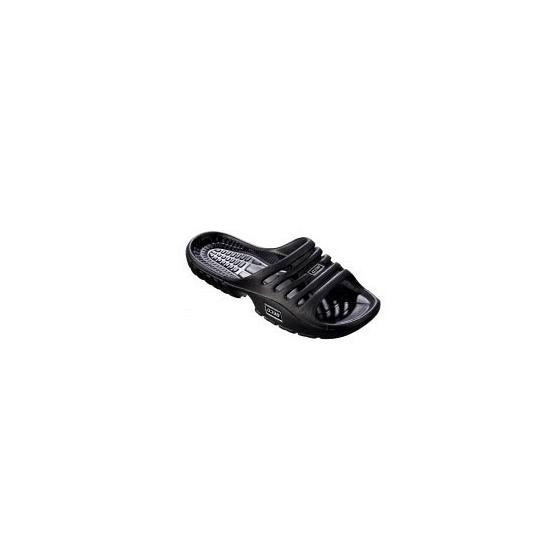 Zwarte strand of sauna slippers voor dames