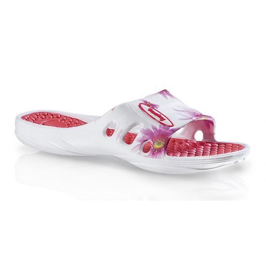 Hawaii slippers met roze bloemen