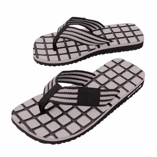 Zwembad teenslippers zwart grijs voor heren