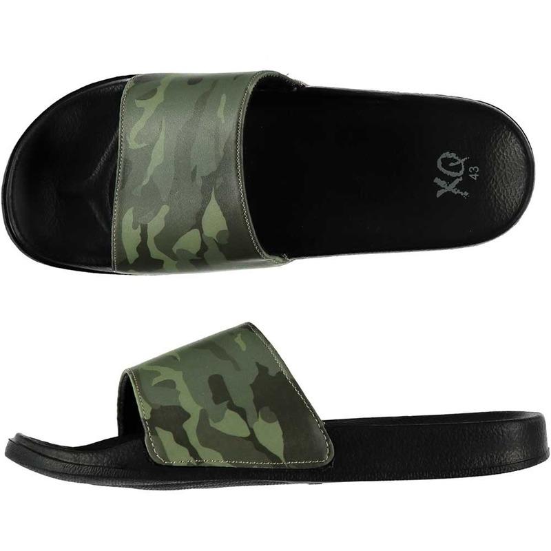 Zwembad slippers met leger print voor heren