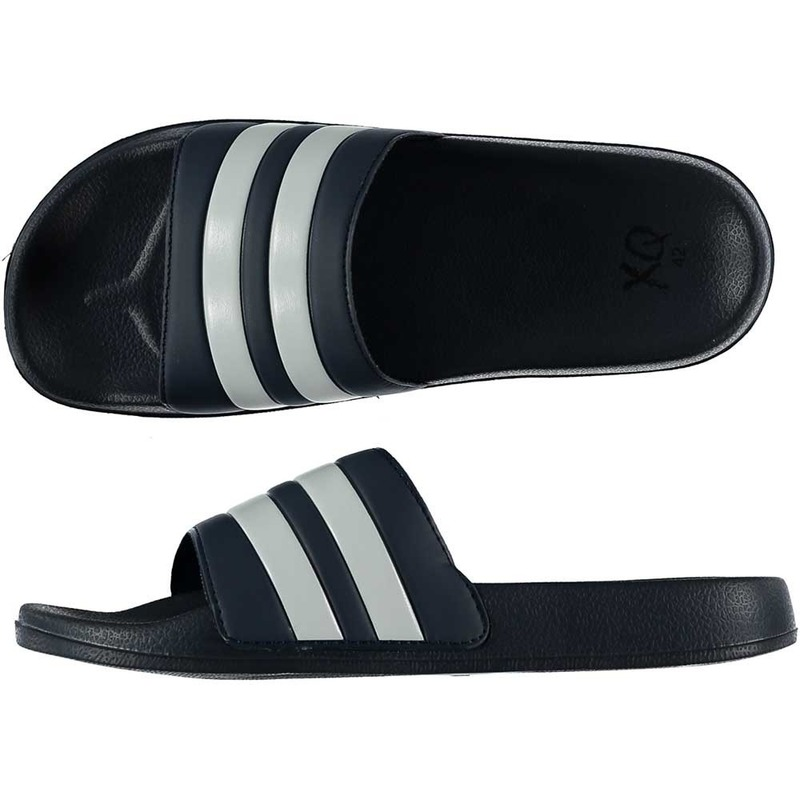 Zwembad slippers navy wit voor heren