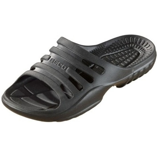 Sauna zwembad slippers zwart voor dames