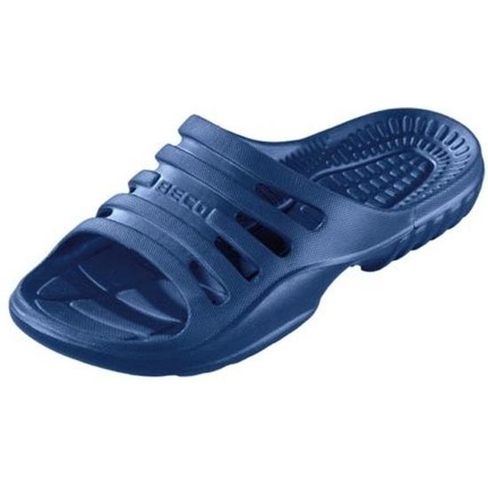 Sauna/zwembad slippers navy blauw voor heren