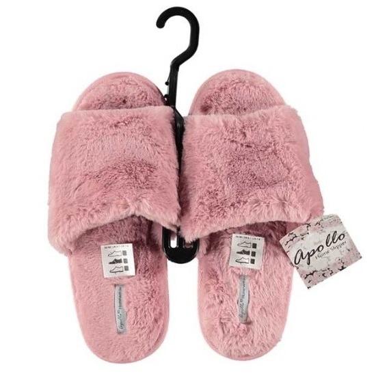Open sloffen pantoffels slippers roze voor dames