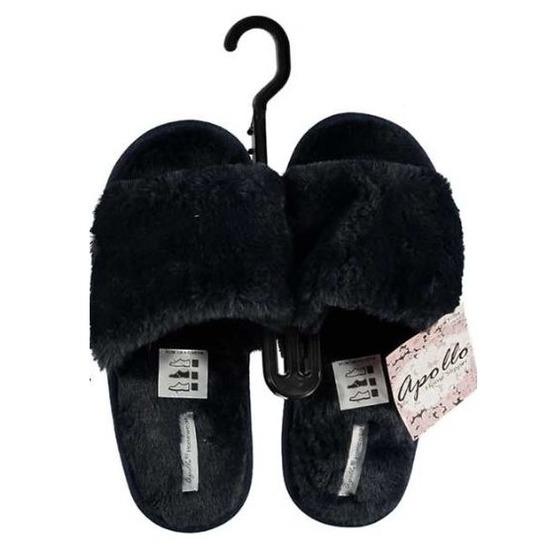 Open sloffen pantoffels slippers blauw voor dames