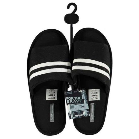 Open sloffen/pantoffels/slippers zwart voor heren